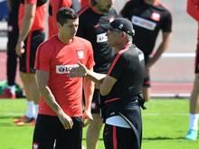 Robert Lewandowski wartet auf seinen ersten Treffer bei dieser EURO