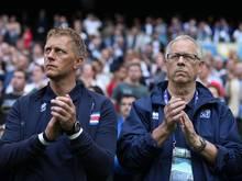 Heimir Hallgrímsson und Lars Lagerbäck (r.) trainieren Island gemeinsam