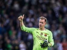Barcelonas Torwart Marc-Andre ter Stegen wurde in Mönchengladbach mit Respekt empfangen