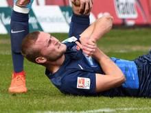 Timo Beermann hatte sich beim 2:2 gegen den SVSandhausen die Schulter ausgekugelt