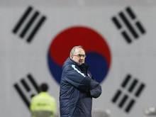 Nationaltrainer Uli Stielike verlor mit Südkorea in China