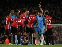 Marouane Fellaini verlor im Derby die Nerven