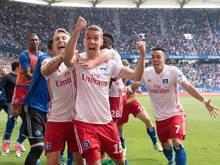 Luca Waldschmidt hat mit seinem Treffer den HSV gerettet
