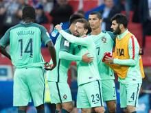 Gewohntes Bild: Portugiesischer Jubel nach einem gewonnenen Spiel