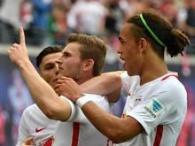 Die Verträge von Timo Werner und Yussuf Poulsen sollen vorzeitig verlängert werden