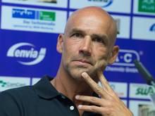 Aue-Trainer Thomas Letsch steht vor seinem Heimdebüt