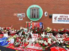 Das Hillsborough Denkmal gedenkt den 96 Toten vom 15. April 1989