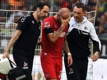 Konstantin Rausch hat sich bei der 0:1-Niederlage in Gladbach eine Gehirnerschütterung zugezogen