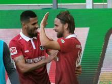 Hannover 96 hat auch dank Martin Harnik (r) einen Traumstart in die Bundesliga-Saison hingelegt