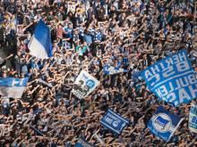 Im DFB-Pokal gegen Köln sorgten Hertha-Fans für einen Skandal