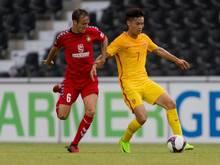 Bereits im Juni traf Chinas U20 auf Drittligist SG Sonnenhof Grossaspach