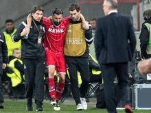 Dominic Maroh musste gegen Arsenal verletzt vom Platz