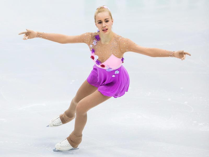 Lutricia Bock zeigte ihre Sprungkombination nur doppelt-dreifach statt dreifach-dreifach