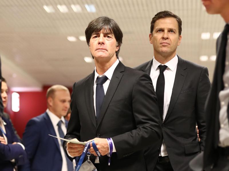 Für Joachim Löw und Oliver Bierhoff (r.) ist der Confed Cup kein lukratives Turnier