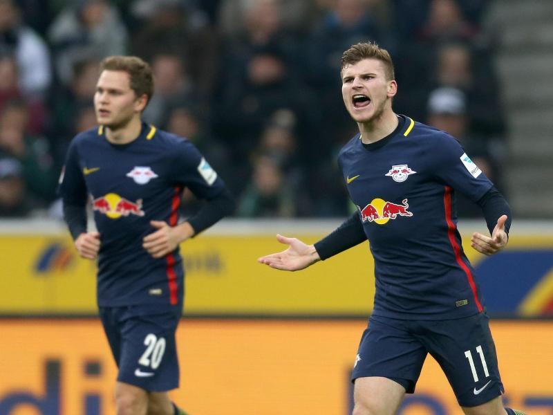 Timo Werner (r.) ist derzeit bester deutscher Bundesliga-Torjäger