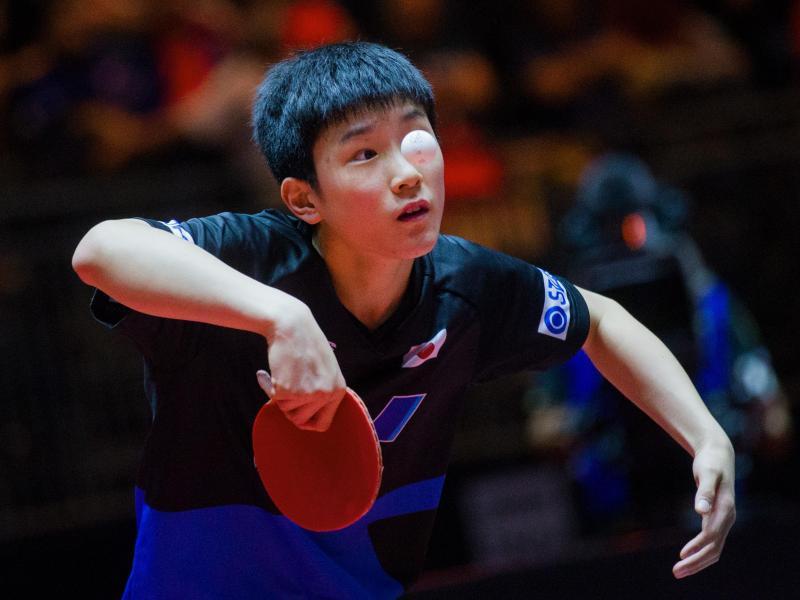 13-jähriger Tomokazu Harimoto schockt Favoriten
