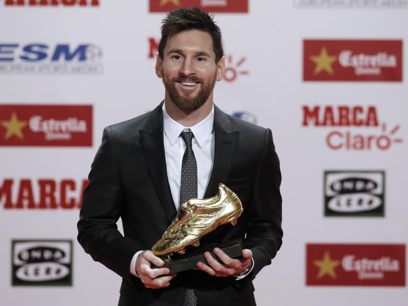 Lionel Messi erhielt zum vierten Mal den Goldenen Schuh für den besten  Torjäger Europas