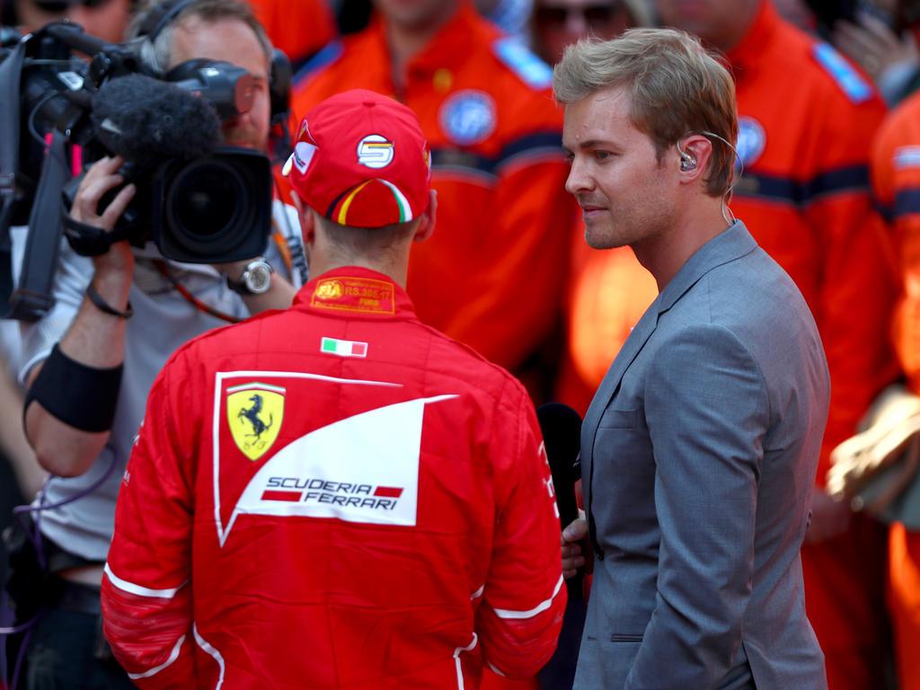 Nico Rosberg (r.) tadelte Sebastian Vettel (l.)