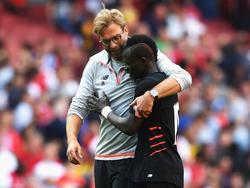 Sadio Mané und Jürgen Klopp wollen mit Liverpool in die Champions League