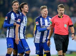 Stark (l.) und Weiser (2.v.r.) fehlen Hertha BSC wohl gegen Bremen