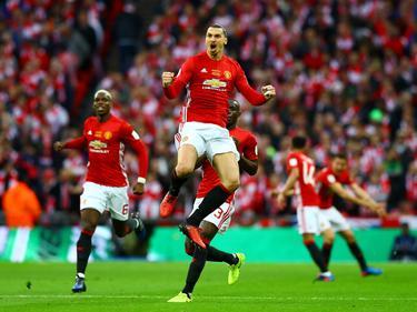 Zlatan Ibrahimović ließ Manchester United im League Cup jubeln