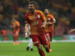 Lukas Podolski traf für Galatasaray