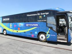 Im Schweden-Bus brach Feuer aus