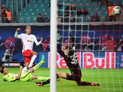 Youssuf Poulsen erzielte den Siegtreffer für RB Leipzig