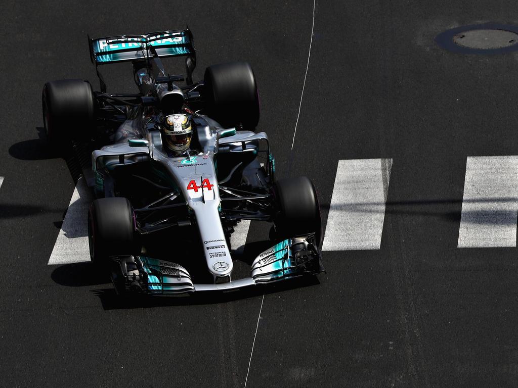 Lewis Hamilton musste am Donnerstag in Monaco der Konkurrenz hinterherfahren