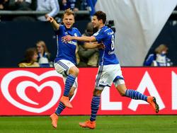 Geis y Goretzka celebran un gol en el último partido. (Foto: Getty)
