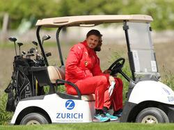 Sebastian Prödl versuchte sich auch als Golfspieler