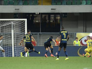 Valter Birsa hizo el primero del Hellas frente al Inter. (Foto: Imago)