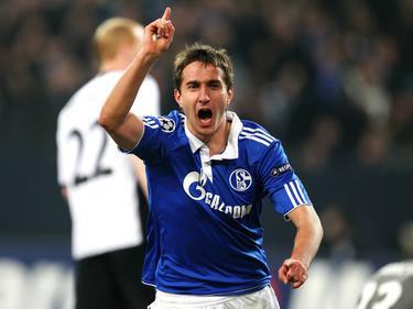 Alte Zeiten: Mario Gavranović jubelt über seinen Treffer im Champions-League-Achtelfinale 2011