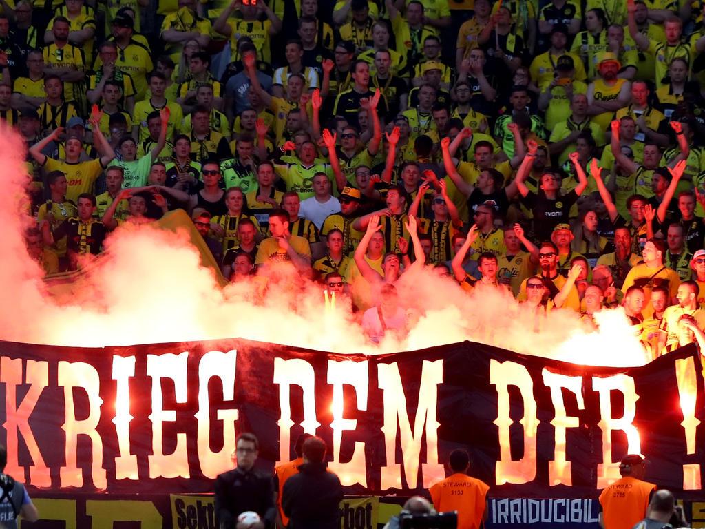 DFB verurteilt Pyrotechnik beim Pokalfinale: