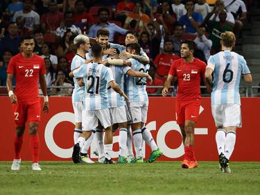 Argentina goleó a Singapur por 0-6. (Foto: Getty)