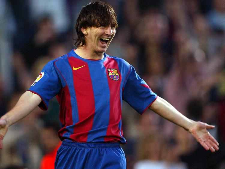 Lionel Messi als Youngster beim FC Barcelona