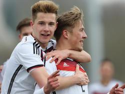 Hoffnungträger der deutschen U17: Johannes Eggestein (l.) und Felix Passlack (r.)