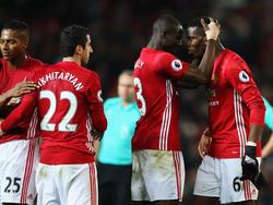 El Manchester United celebra una victoria en la Premier. (Foto: Getty)