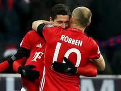 Bayerns Robert Lewandowski und Arjen Robben ergänzen sich inzwischen blendend