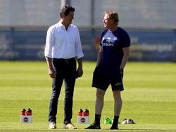 Jens Todt (li.) steht vor schweren Aufgaben beim HSV