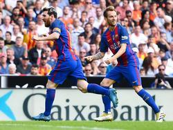 Lionel Messi und der FC Barcelona kamen gegen Valencia kurz ins Straucheln