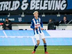 Michel Vlap krijgt in de slotfase van de wedstrijd tegen Ajax zijn debuut in het shirt van sc Heerenveen. (27-11-2016)