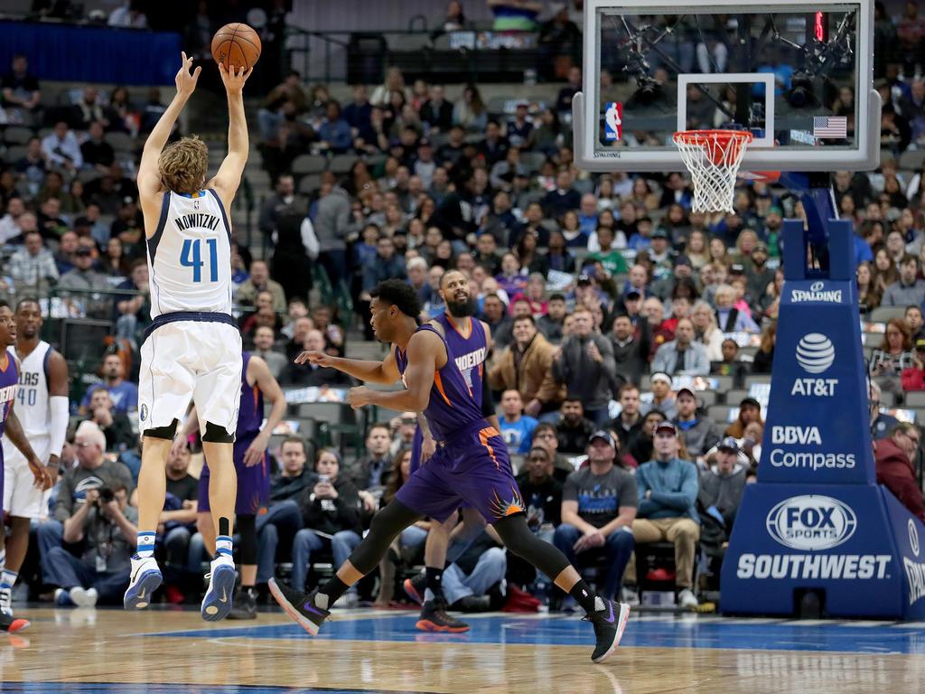 Dirk Nowitzki überzeugte gegen die Wolves mit 26 Punkten