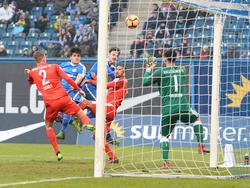 hansa Rostock hat sich knapp mit 1:0 gegen Rostock durchgesetzt