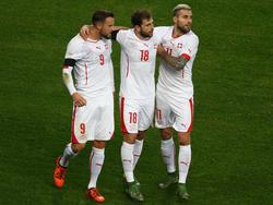 """Die Schweizer freuen sich über einen Sieg gegen einen """"starken Gegner"""""""