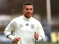 Lukas Podolski will sich einen Platz in der deutschen Startelf erkämpfen