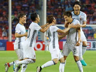 Traf für Japan zur 1:0-Führung: Herthas Genki Haraguchi (r.)