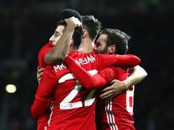 Juan Mata (r.) erzielte die Führung für Manchester United