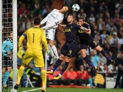 Cristiano marcó el único gol del Madrid contra el Tottenham. (Foto: Getty)