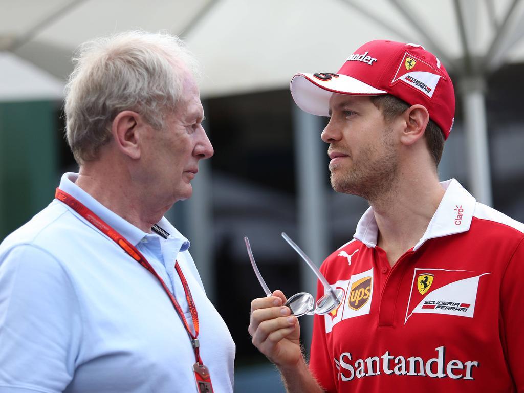 Helmut Marko hat Ferrari und Sebastian Vettel auf der Rechnung